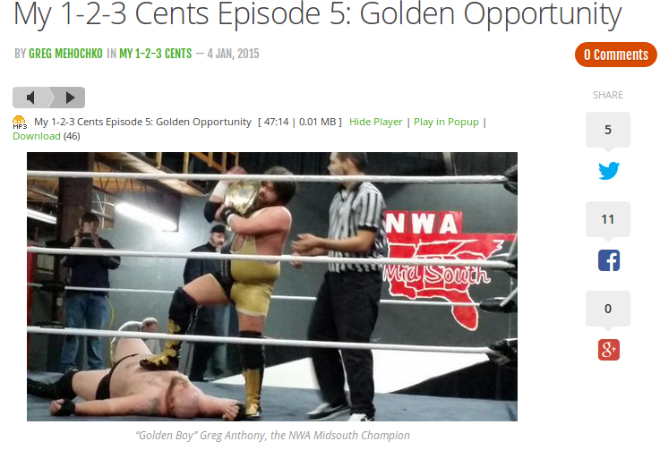 My 1-2-3 Cents Episode 5: Golden Opportunity.