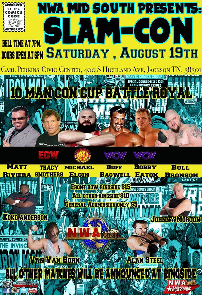 NWA Mid South Presents Slam-Con 2017, The Carl Perkins Civic Center, 400 S Highland Ave, Jackson, TN, Saturday, August 19, 2017